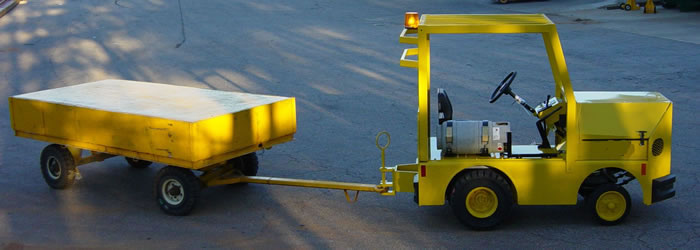 industrial tugger and towable cart