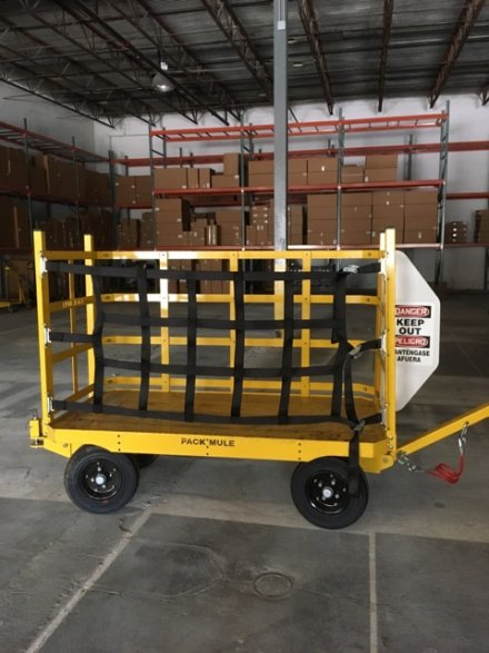 Industrial Trailer with Cargo Netting