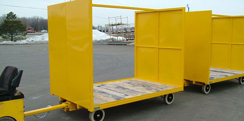 industrial trailer with high walls
