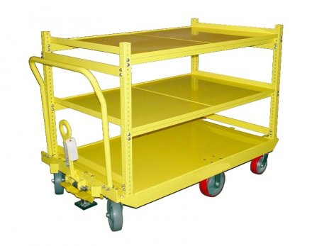 Industrial Cart with Shelves