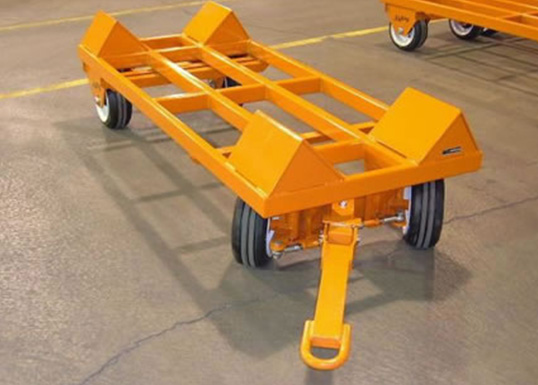 warehouse trailer with v-cradle